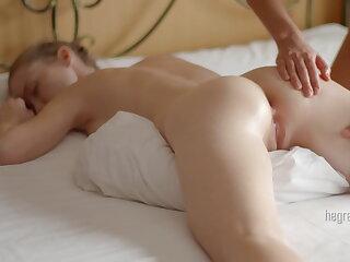 Girl girl body body massage