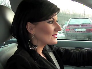 European Milf doing it in a car