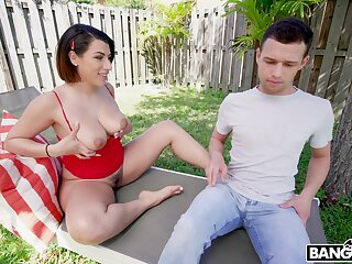 Scolding is spying on hot nextdoor chick sunbathing in cohere