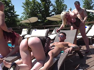 Nothing beats a crazy orgy and these cock hungry whores just love to leman