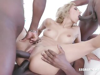 Veronica Leal invited some horny, black guys to her place to fuck her dirty brains out