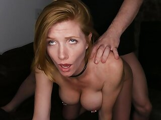 Sexy Redhead With reference to Pierced Nipples Enjoys Rough Sex