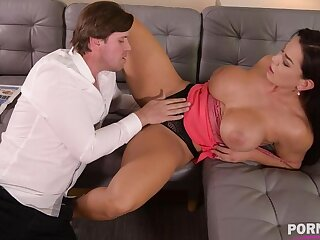 Top-heavy bombshell Chloe Lamour needs her asshole to be crammed alongside big cock GP904