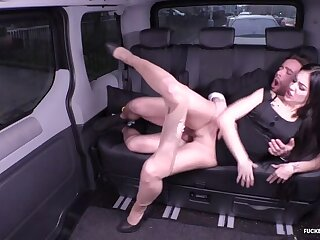 Lusty German babe Lullu Pistol gets drilled in the backseat of the car