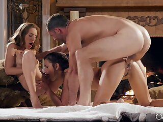 Lucky man more fucks both these beauties in a overused threesome
