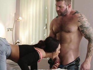 Busty tbabe Khloe Kay spreads asshole for a hot anal sex