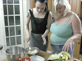 Skinny hottie gets licked by a chubby of age - Lacey Starr & Alessa Savage